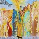 akryl - O vtákovi Ohnivákovi a Morskej panne