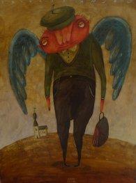 akryl - Zrobený anjel