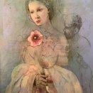 Adjustovaná maľba - Pri nohách kráľovnej