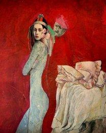 Katarína Vavrová - Adjustovaná maľba - Ej nevyberaj šuhaj