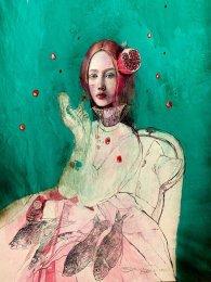 Alžbetka s granátovým jablkom
