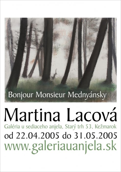 Martina Lacová - Bonjour Monsier Mednyánsky (22. 04. 2005 - 31. 05. 2005)