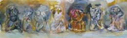 Marek Ormandík - akryl - Stôl č. 7 - parížsky